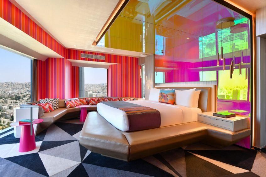 W Amman Luxury Hotel - Amman, Jordan - WOW Suite King Extreme Bedroom