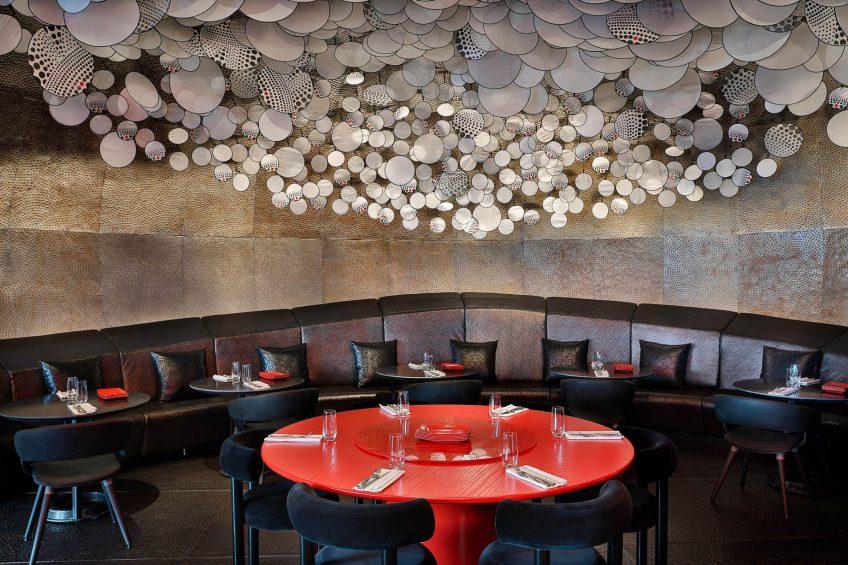 W Abu Dhabi Yas Island Luxury Hotel - Abu Dhabi, UAE - Garage Restaurant Decor