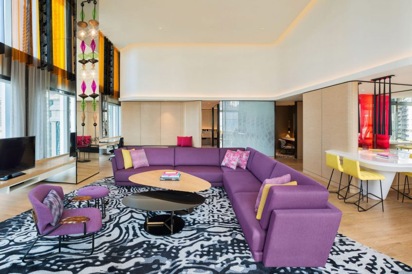 W Kuala Lumpur Luxury Hotel - Kuala Lumpur, Malaysia - WOW Suite Living Area