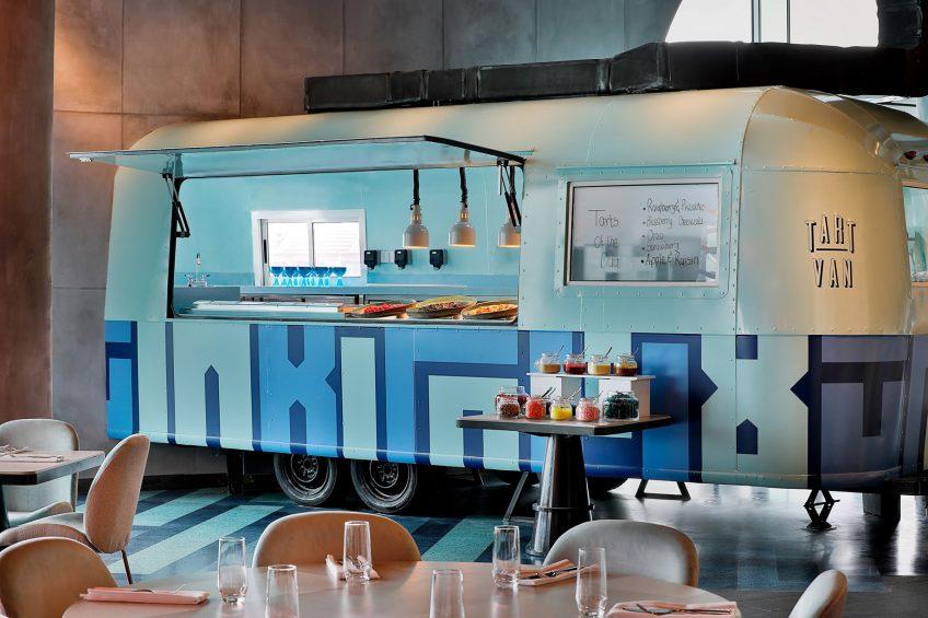 W Abu Dhabi Yas Island Luxury Hotel - Abu Dhabi, UAE - Garage Restaurant Design