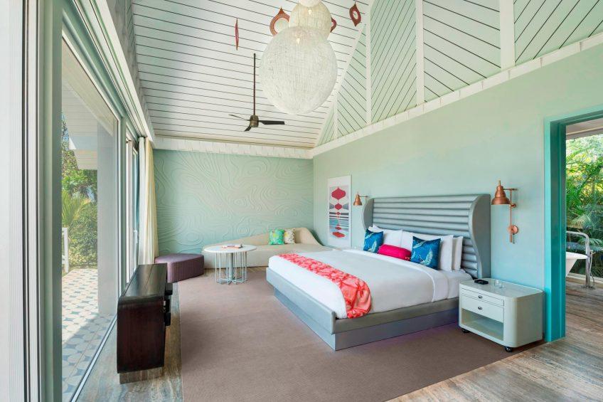 W Goa Vagator Beach Luxury Resort - Goa, India - Fantastic Garden Villa Bedroom