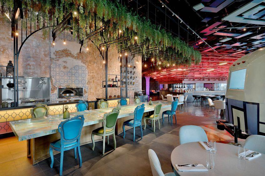 W Abu Dhabi Yas Island Luxury Hotel - Abu Dhabi, UAE - Garage Restaurant Eatery