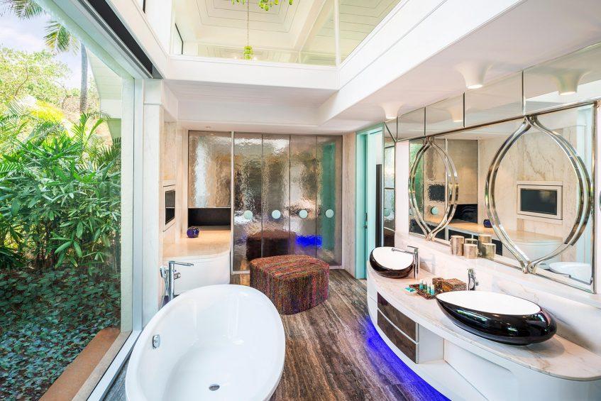 W Goa Vagator Beach Luxury Resort - Goa, India - Fantastic Garden Villa Bathroom Tub