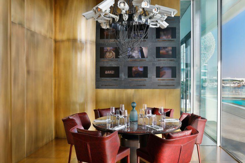 W Abu Dhabi Yas Island Luxury Hotel - Abu Dhabi, UAE - Garage Restaurant Table View