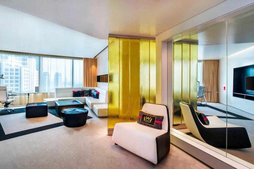 W Bangkok Luxury Hotel - Bangkok, Thailand - Fantastic Suite Living Area