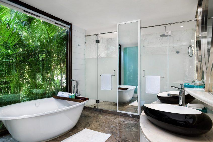 W Goa Vagator Beach Luxury Resort - Goa, India - Fantastic Sea View Chalet Bathroom Tub