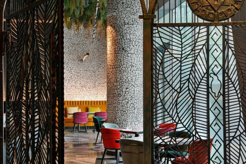 W Abu Dhabi Yas Island Luxury Hotel - Abu Dhabi, UAE - Garage Restaurant Tables