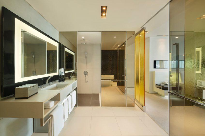 W Bangkok Luxury Hotel - Bangkok, Thailand - Fantastic Suite Bathroom Vanity