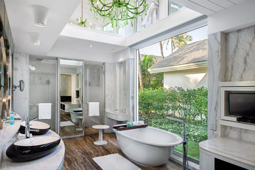 W Goa Vagator Beach Luxury Resort - Goa, India - Fantastic Seafront Villa Bathroom Tub