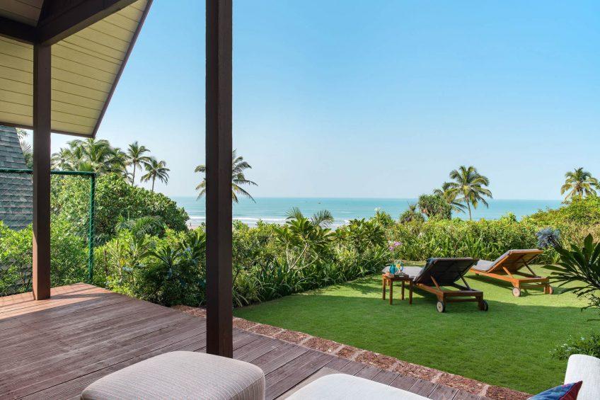 W Goa Vagator Beach Luxury Resort - Goa, India - Fantastic Sea View Chalet Deck