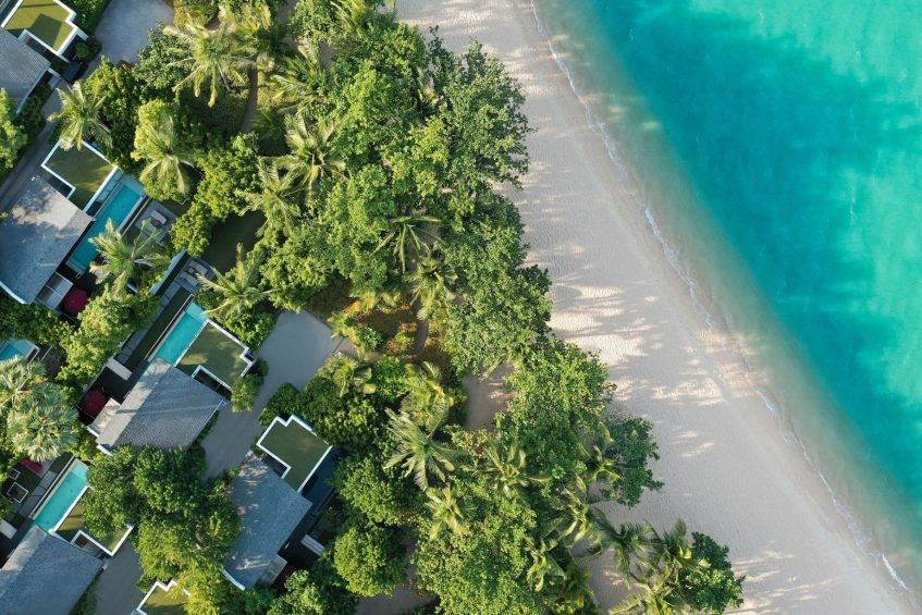 W Koh Samui Luxury Resort - Thailand - Ocean Front Haven Villa Overhead Aerial View