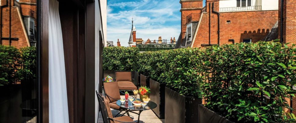 Bvlgari Luxury Hotel London - Knightsbridge, London, UK - Exterior Deck