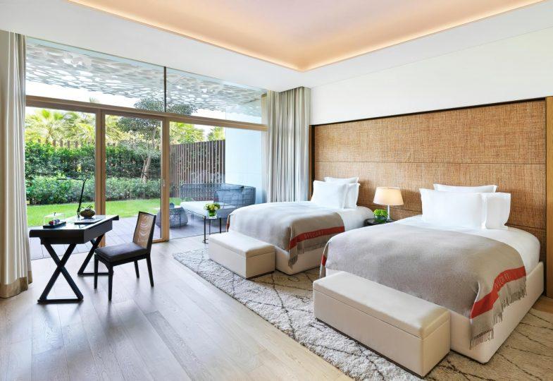 Bvlgari Luxury Resort Dubai - Jumeira Bay Island, Dubai, UAE - Guest Suite Bedroom Garden View