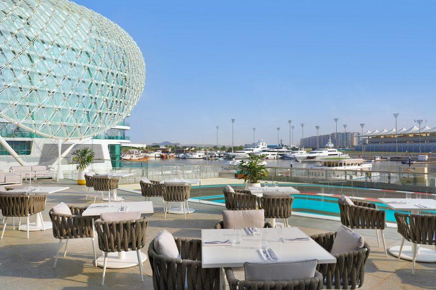 W Abu Dhabi Yas Island Luxury Hotel - Abu Dhabi, UAE - Garage Restaurant Patio