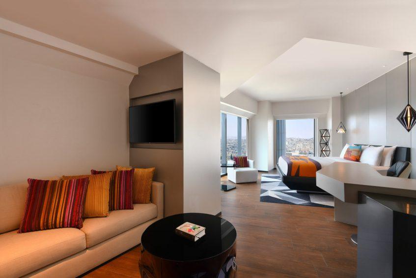 W Amman Luxury Hotel - Amman, Jordan - Cool Corner Suite Living Room