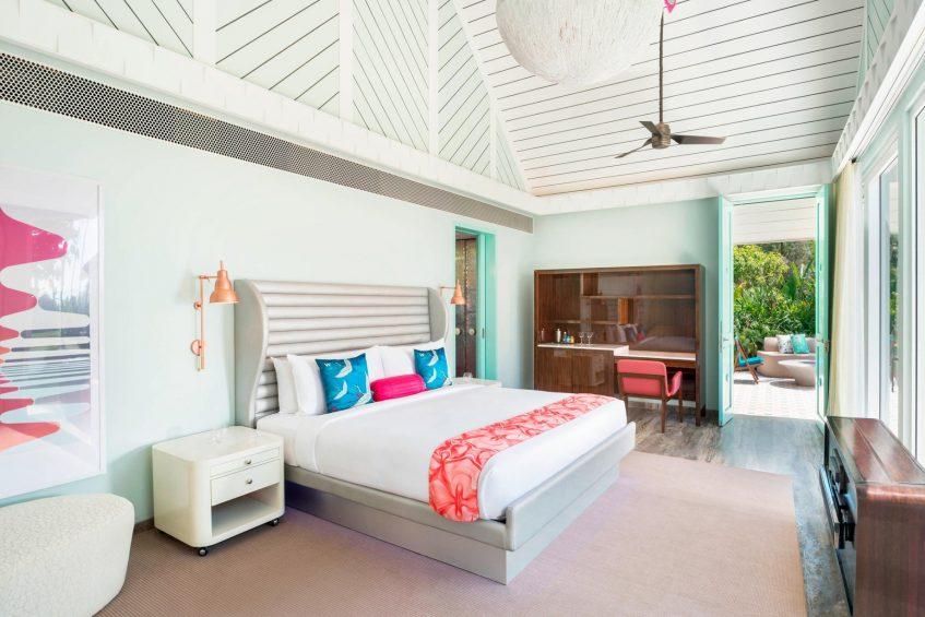 W Goa Vagator Beach Luxury Resort - Goa, India - Fantastic Seafront Villa Bedroom