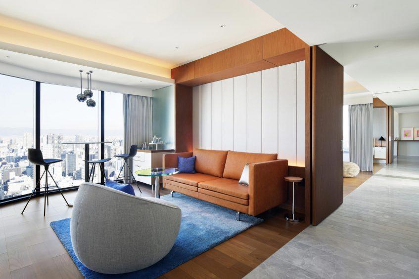 W Osaka Luxury Hotel - Osaka, Japan - Marvelous King Suite Living Area