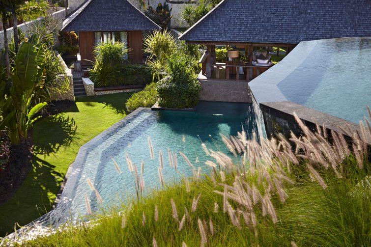 Bvlgari Luxury Resort Bali - Uluwatu, Bali, Indonesia - The Mansions Courtyard and Pool Area
