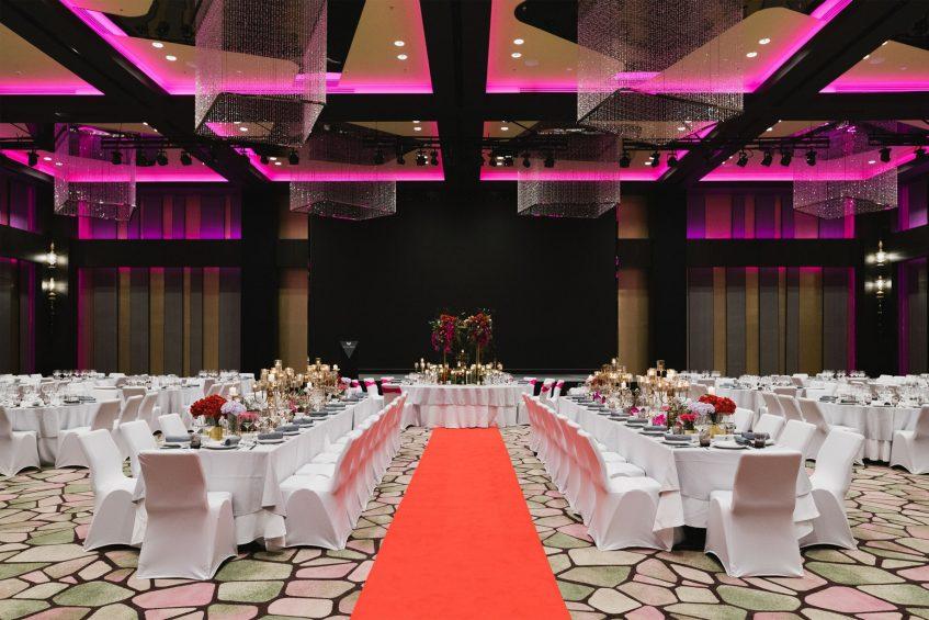 W Kuala Lumpur Luxury Hotel - Kuala Lumpur, Malaysia - Great Room Wedding Reception Setup