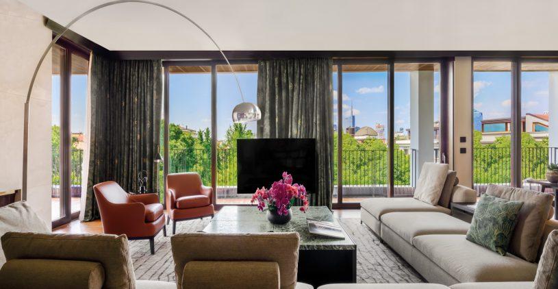 Bvlgari Luxury Hotel Milano - Milan, Italy - Bvlgari Suite Living Room View