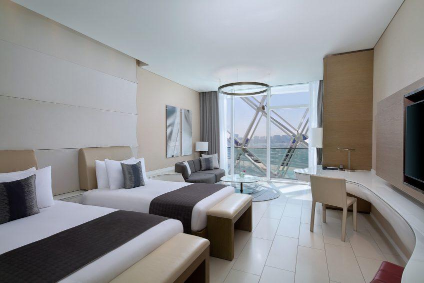 W Abu Dhabi Yas Island Luxury Hotel - Abu Dhabi, UAE - Wonderful Guest Room Twin Bedroom