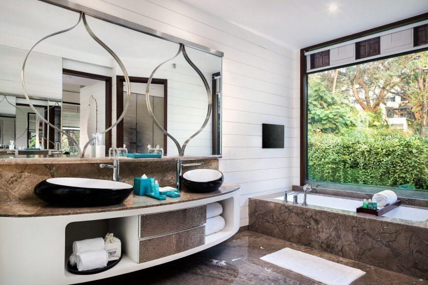 W Goa Vagator Beach Luxury Resort - Goa, India - Marvelous Garden Chalet Bathroom Tub