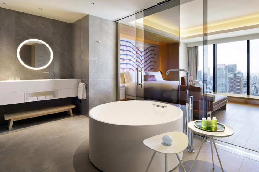 W Osaka Luxury Hotel - Osaka, Japan - WOW Suite Bathroom