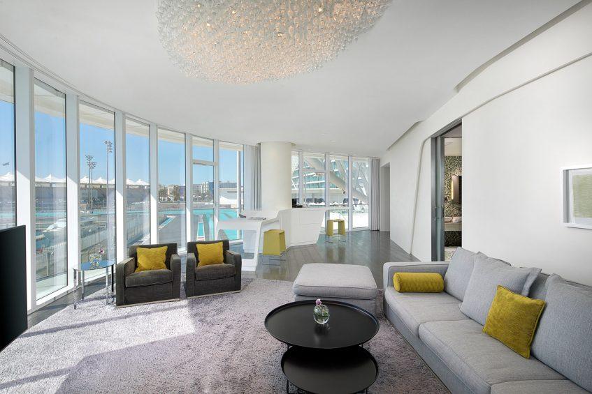 W Abu Dhabi Yas Island Luxury Hotel - Abu Dhabi, UAE - WOW Suite Living Room