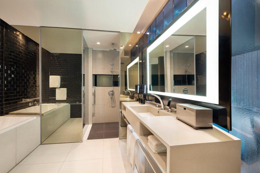 W Bangkok Luxury Hotel - Bangkok, Thailand - Wonderful Bathroom Separate Tub and Shower