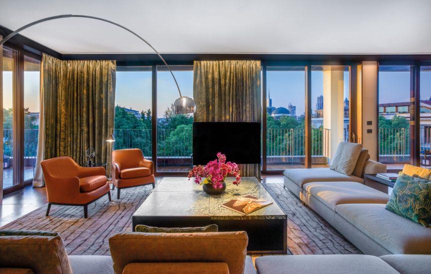 Bvlgari Luxury Hotel Milano - Milan, Italy - Bvlgari Suite Living Room