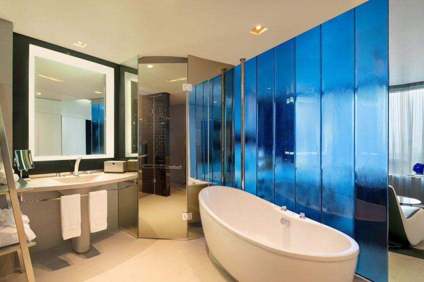 W Bangkok Luxury Hotel - Bangkok, Thailand - Spectacular Guest Bathroom Separate Tub and Shower