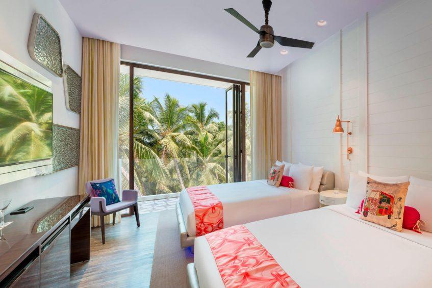 W Goa Vagator Beach Luxury Resort - Goa, India - Wonderful Room Twin Beds