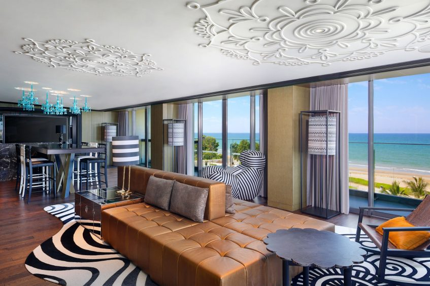 W Muscat Luxury Resort - Muscat, Oman - WOW Suite Living Room View