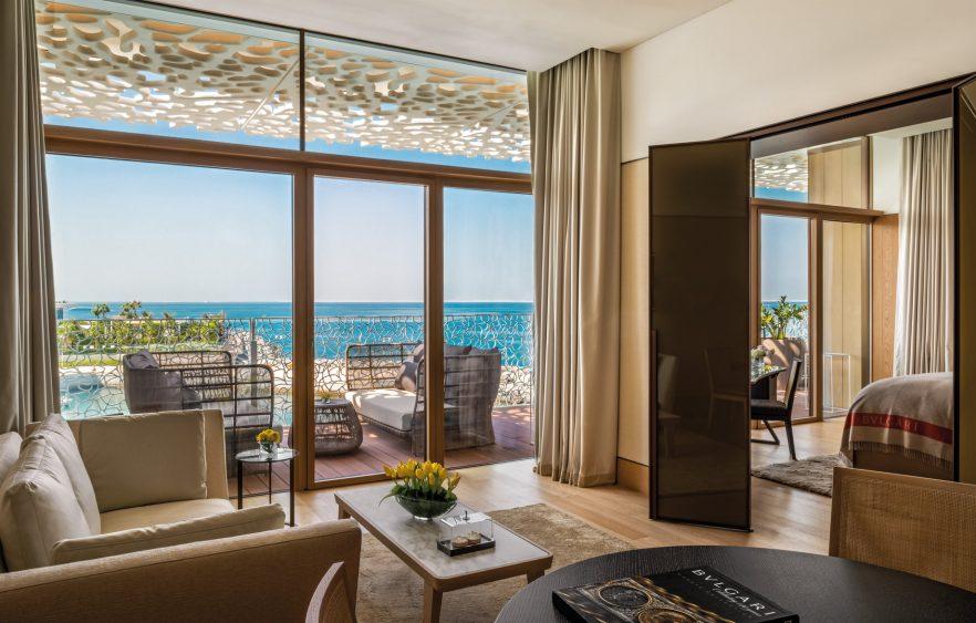 Bvlgari Luxury Resort Dubai - Jumeira Bay Island, Dubai, UAE - Guest Suite Living Room and Bedroom