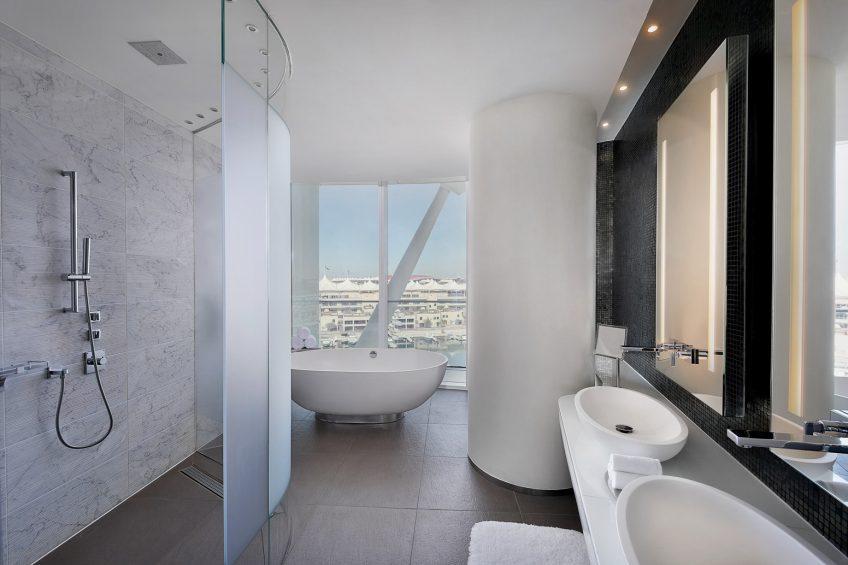 W Abu Dhabi Yas Island Luxury Hotel - Abu Dhabi, UAE - Fabulous Suite Bathroom Shower