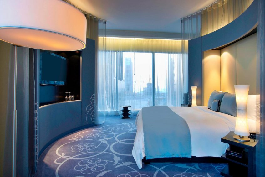 W Doha Luxury Hotel - Doha, Qatar - Spectacular Room Bedroom