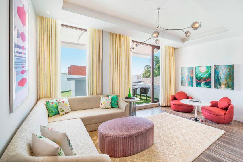 W Goa Vagator Beach Luxury Resort - Goa, India - Marvelous Suite Living Room