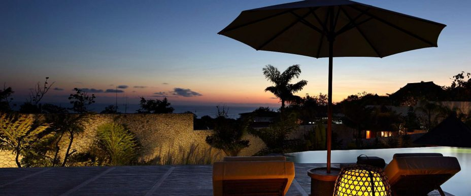 Bvlgari Luxury Resort Bali - Uluwatu, Bali, Indonesia - The Mansions Pool Deck Ocean View Night