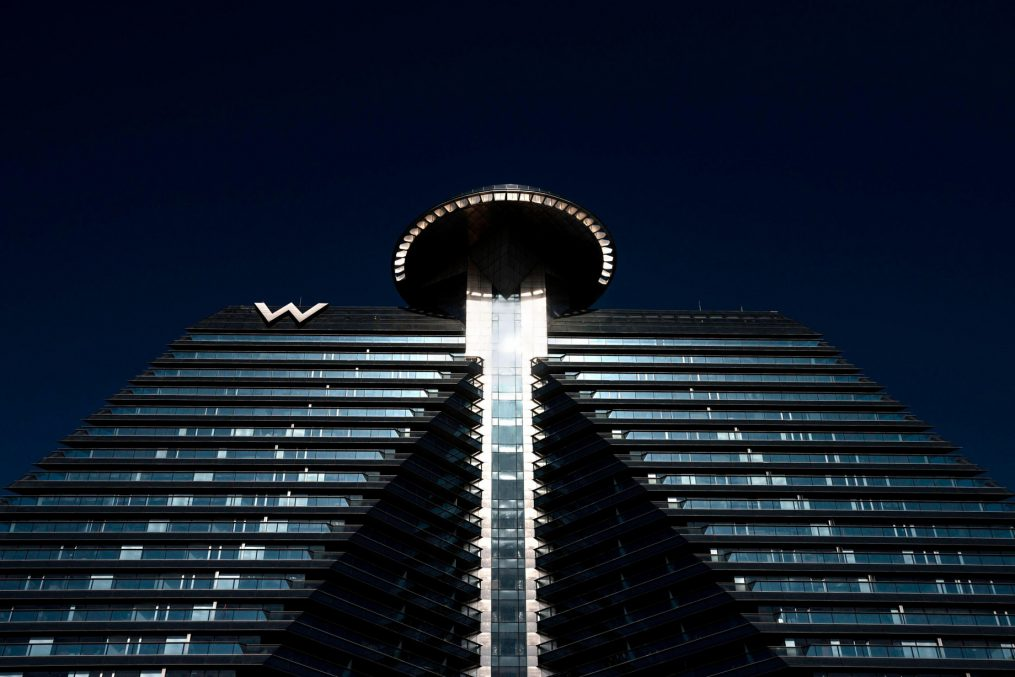 W Xi'an Luxury Hotel - Xi'an, Shaanxi Province, China - Hotel Exterior Tower View