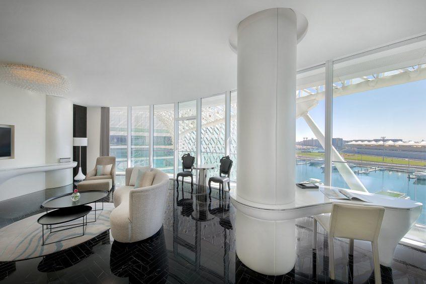 W Abu Dhabi Yas Island Luxury Hotel - Abu Dhabi, UAE - Fabulous Suite Living Room