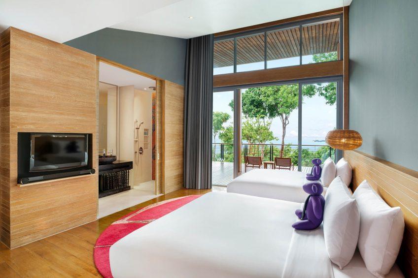 W Koh Samui Luxury Resort - Thailand - Twin Seascape Escape Villa Bedroom