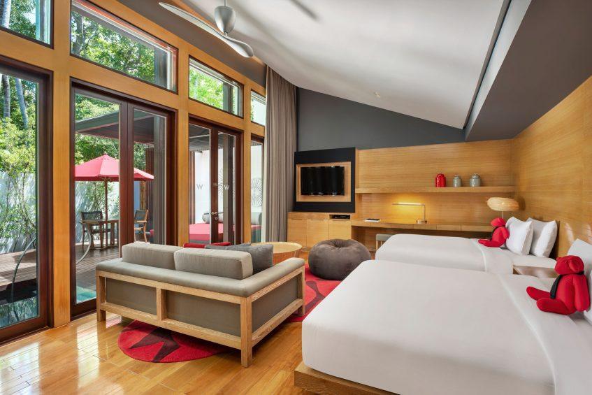 W Koh Samui Luxury Resort - Thailand - Twin Tropical Oasis Villa Bedroom