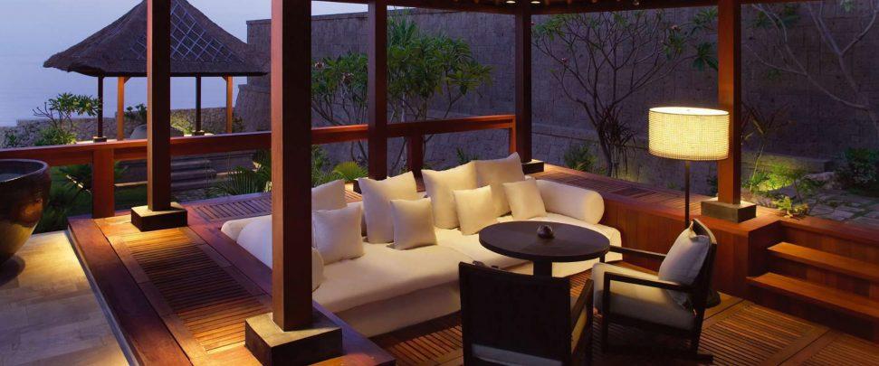 Bvlgari Luxury Resort Bali - Uluwatu, Bali, Indonesia - The Bvlgari Villa Lounge Ocean View Night