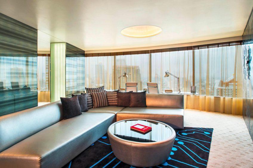 W Bangkok Luxury Hotel - Bangkok, Thailand - WOW Suite Living Area