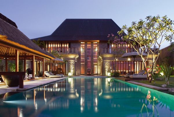 Bvlgari Luxury Resort Bali - Uluwatu, Bali, Indonesia - The Bvlgari Villa Pool Deck Twilight