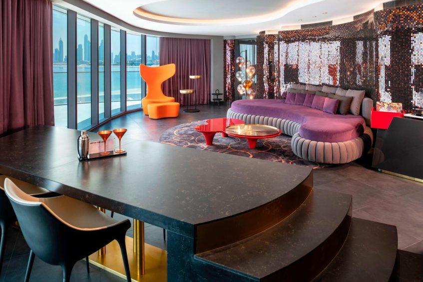 W Dubai The Palm Luxury Resort - Dubai, UAE - Fabulous Suite Living Room