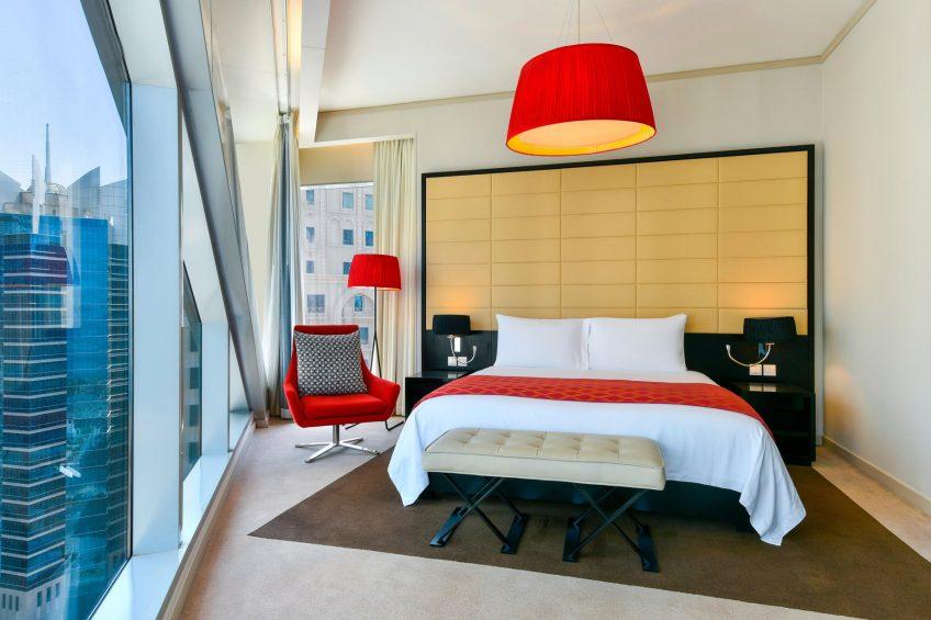 W Doha Luxury Hotel - Doha, Qatar - One Bedroom King Apartment City View Bedroom