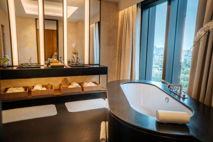 Bvlgari Luxury Hotel Beijing - Beijing, China - Guest Suite Bathroom Tub