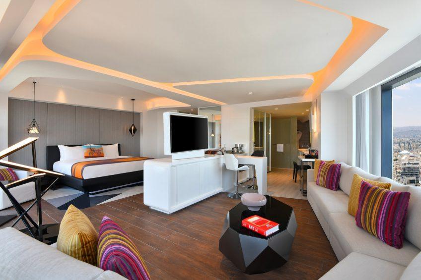 W Amman Luxury Hotel - Amman, Jordan - W Suite Living Room