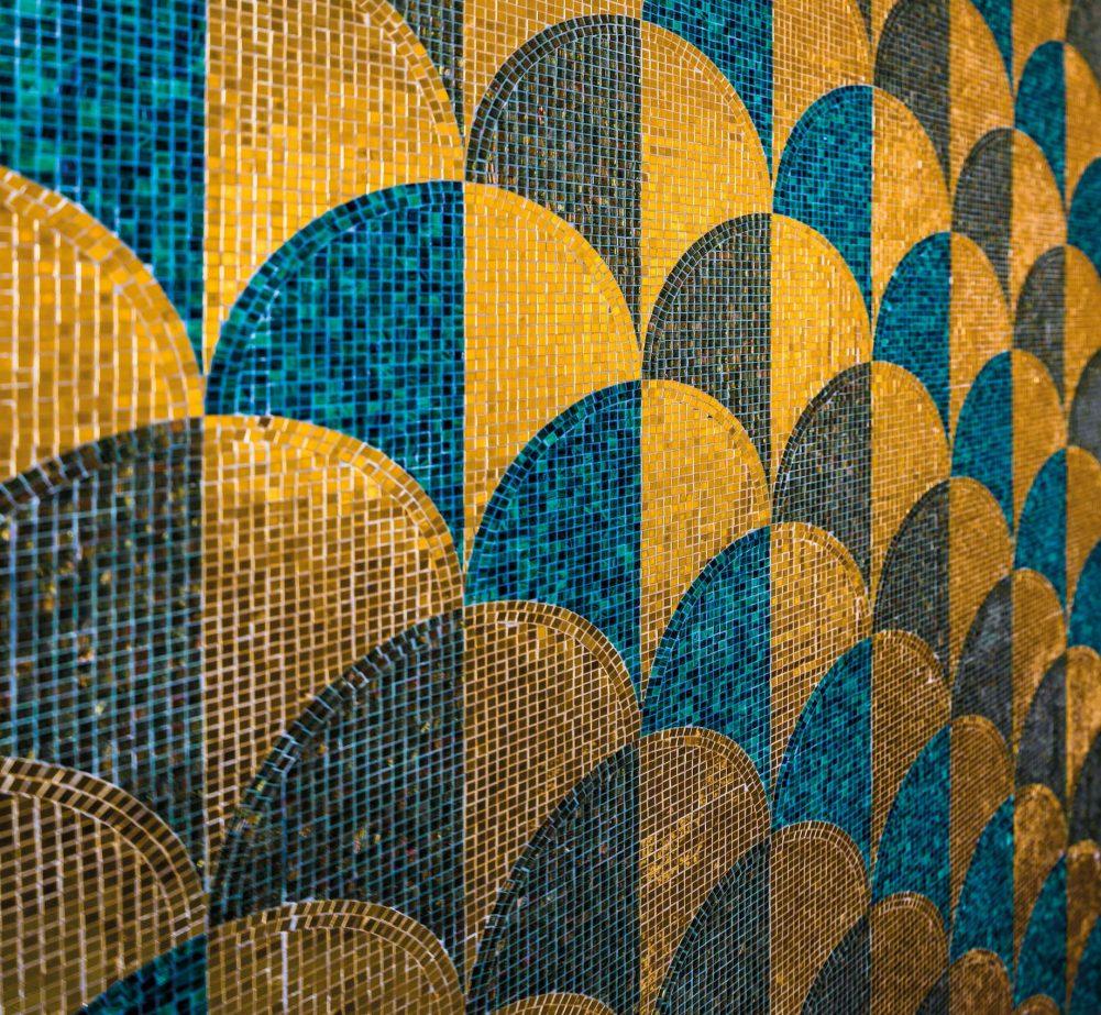 Bvlgari Luxury Resort Dubai - Jumeira Bay Island, Dubai, UAE - Vitality Pool Tile Pattern
